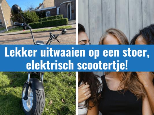 Lekker uitwaaien op een stoer, elektrisch scootertje door wanneperveen
