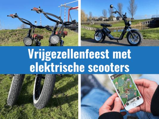 Vrijgezellenfeest met elektrische scooters in giethoorn en omgeving
