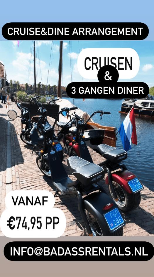 cruise and dine arrangement blokzijl
