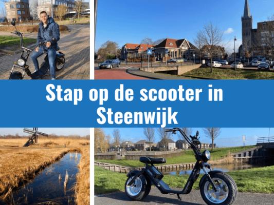 stap op de elektrische scooter in steenwijk